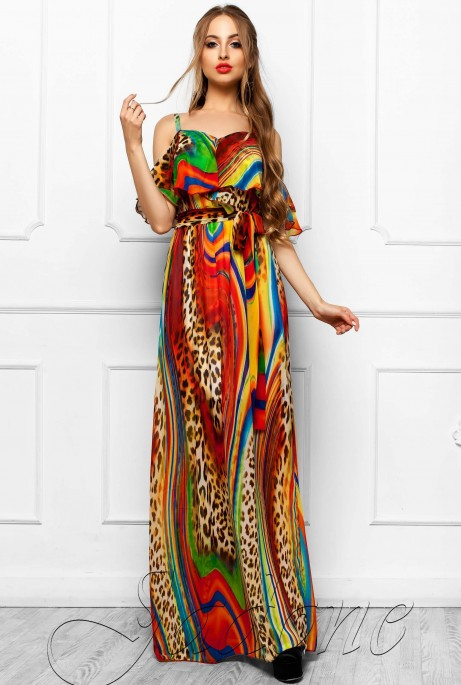 Платье Отим комбинированный_2
