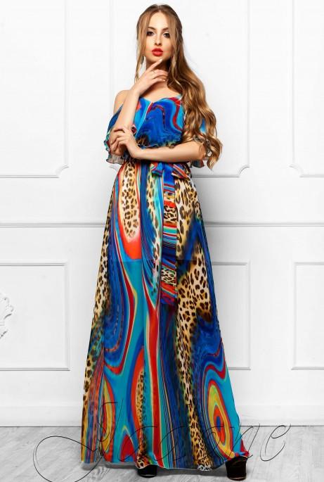 Платье Отим комбинированный_4
