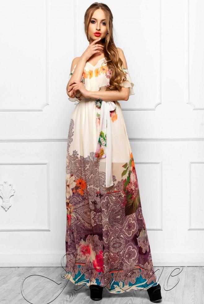 Платье Отим комбинированный_5 Жадон