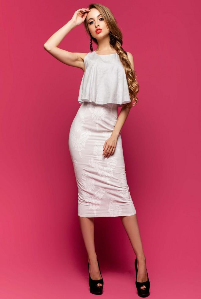 Платье Магнолия белый