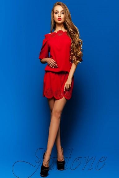 Туника-платье Шатти красный