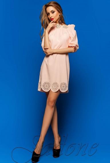 Туника-платье Шатти персиковый