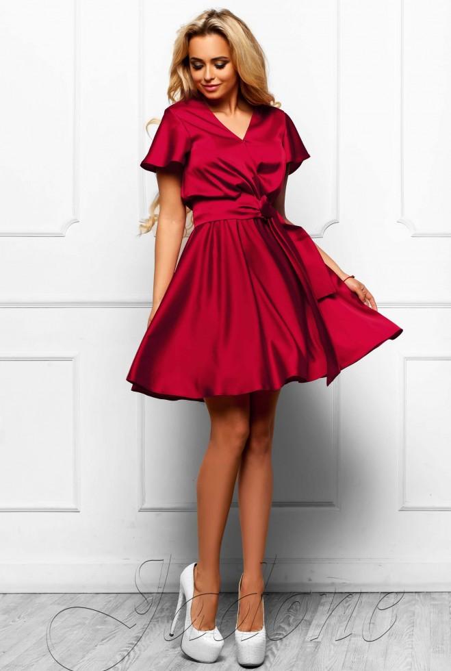 Платье Синди  винный Жадон