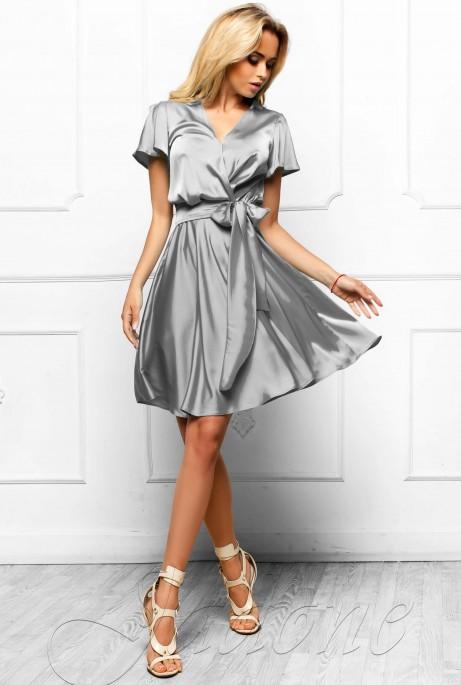 Платье Синди  стальной
