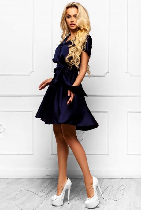 Платье Синди  тёмно-синий