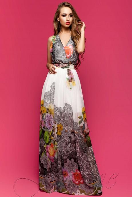 Платье Карри комбинированный_7