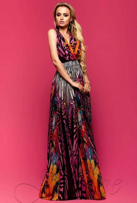 Платье Карри комбинированный_8