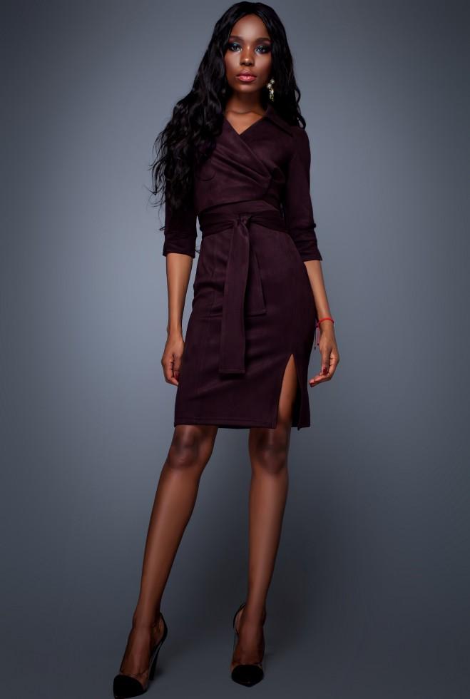 Платье Крейзи слива