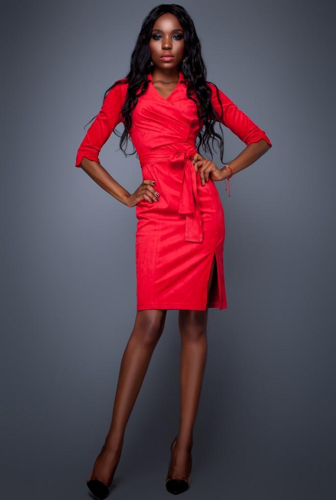 Платье Крейзи красный
