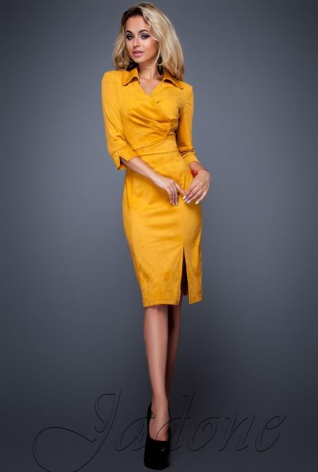 Платье Крейзи горчица