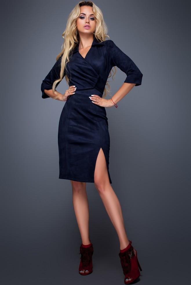 Платье Крейзи тёмно-синий Жадон