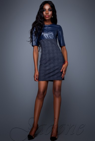 Платье Марни тёмно-синий