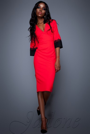Платье Полит красный