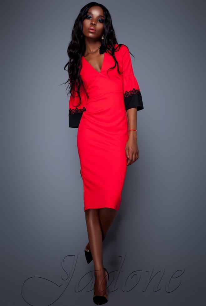 Платье Полит красный Жадон
