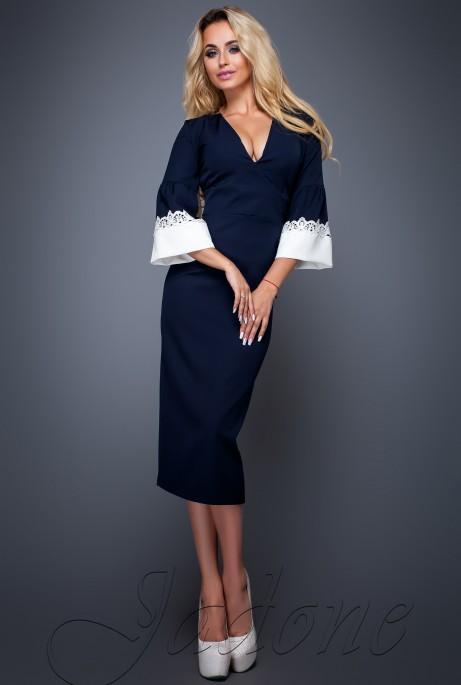 Платье Полит тёмно-синий