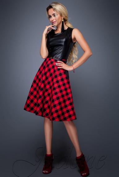 Платье Сакура красный