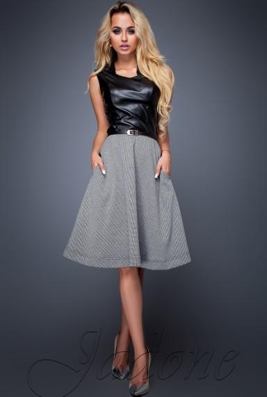 Платье Сакура серый