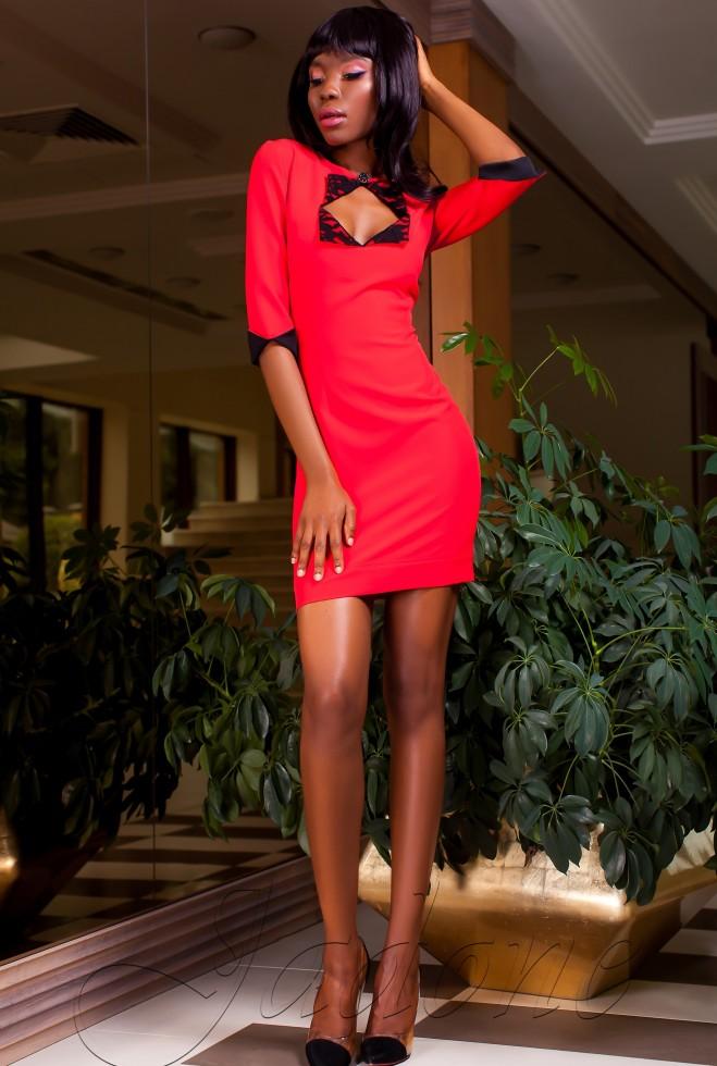 Платье Клори красный Жадон