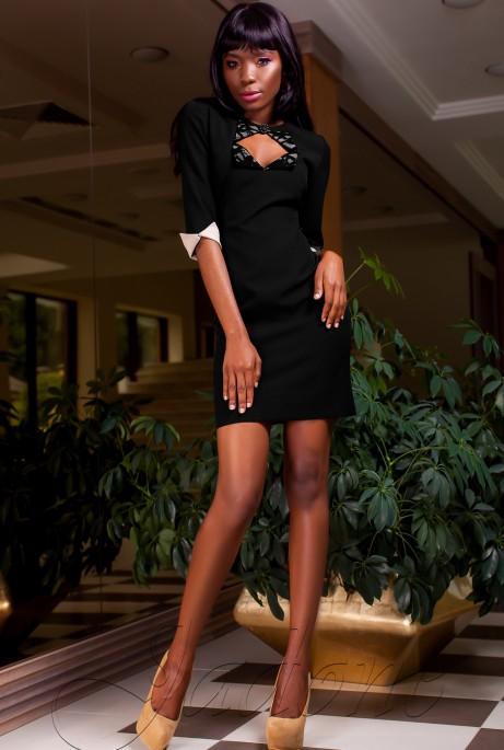 Платье Клори черный