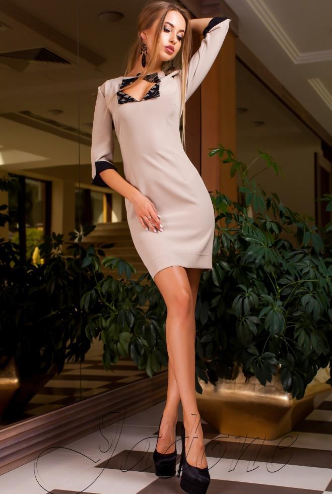 Платье Клори бежевый