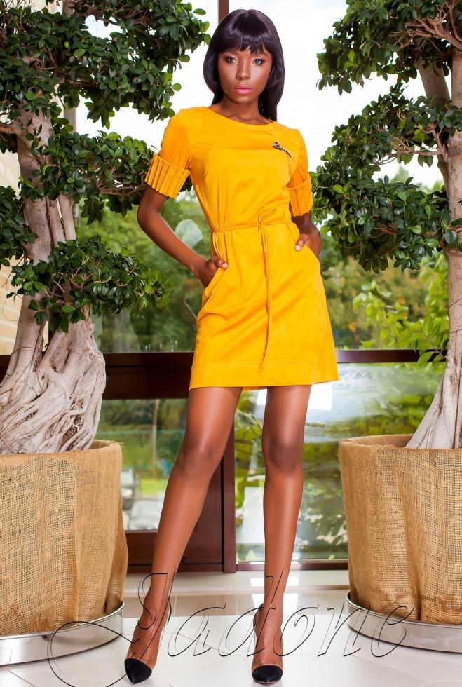Платье Сетти горчица