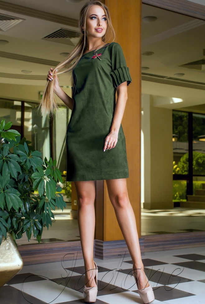 Платье Сетти хаки Жадон