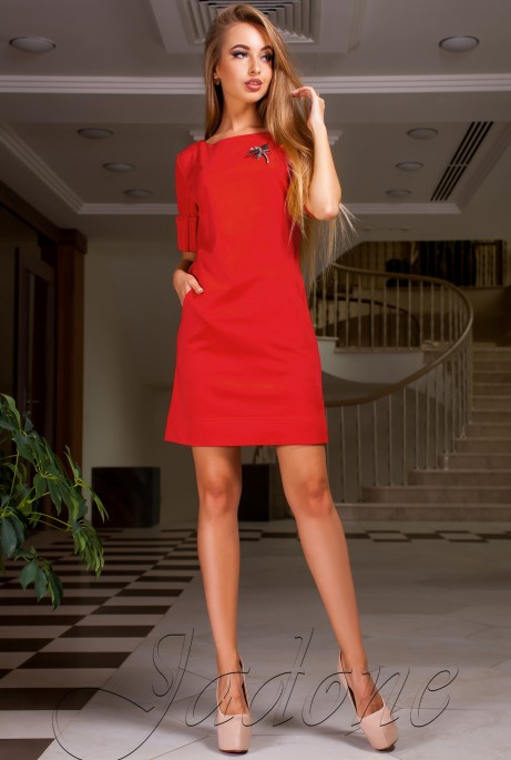 Платье Сетти красный