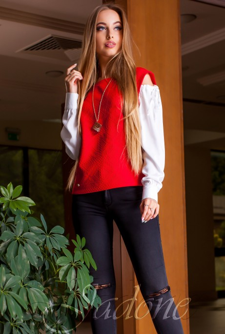 Блуза Венециано красный