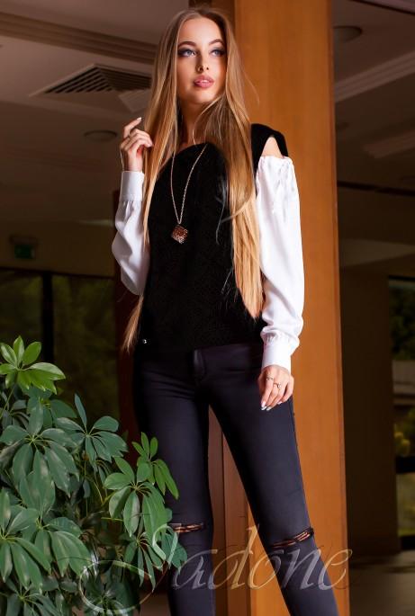 Блуза Венециано черный