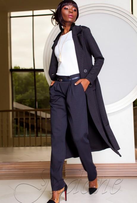 Трикотажное пальто Лучини черный