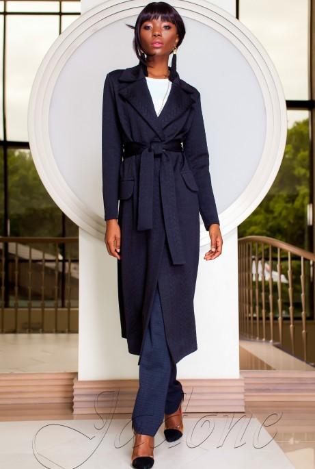 Трикотажное пальто Лучини тёмно-синий