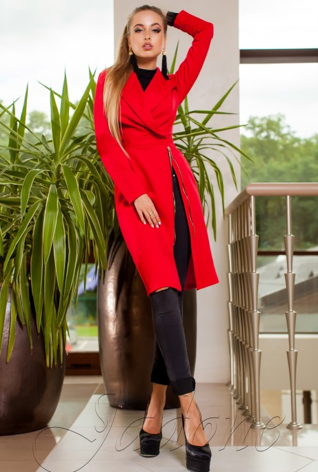 Платье-кардиган Хьюстон красный