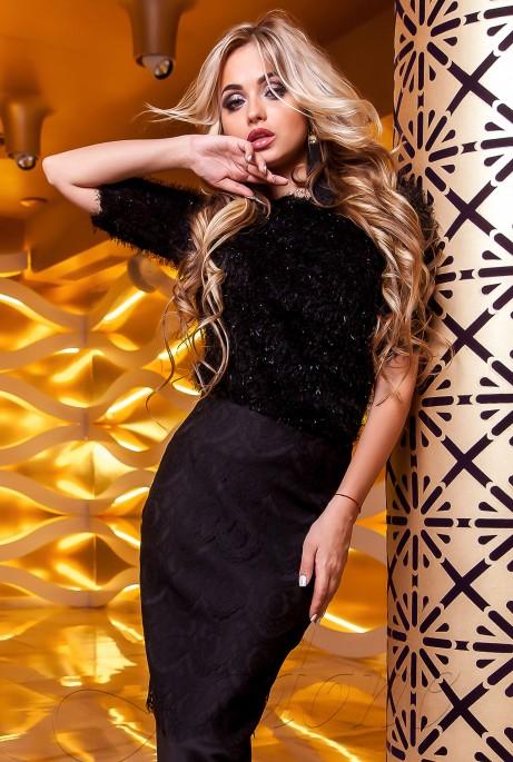 Блуза Сакси черный