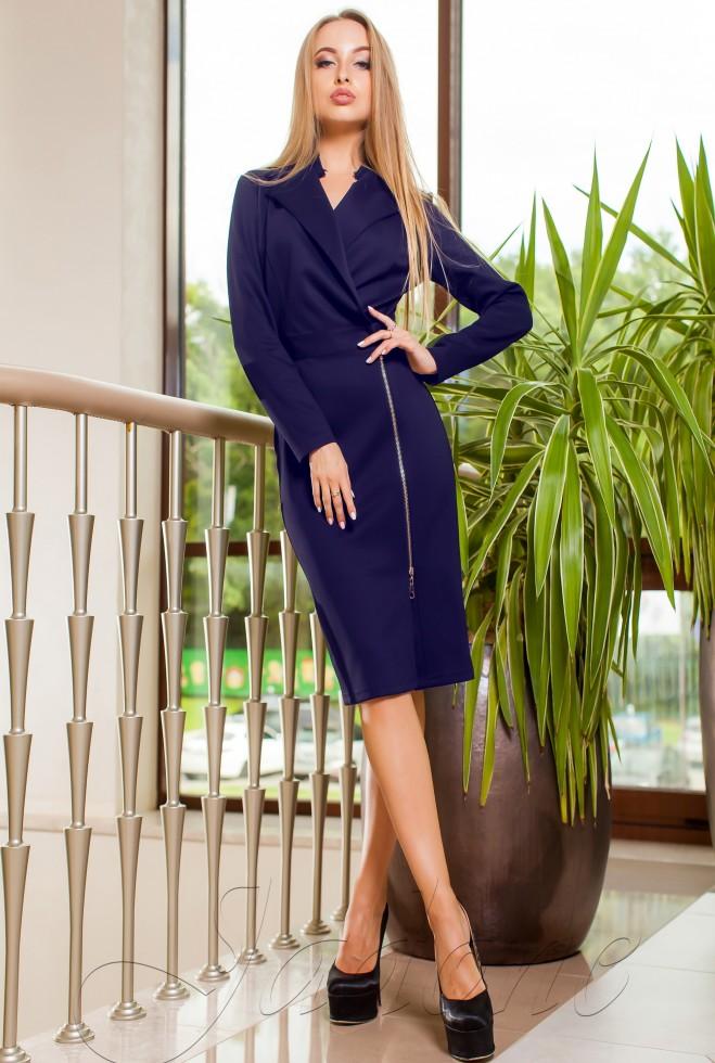 Платье-кардиган Хьюстон тёмно-синий