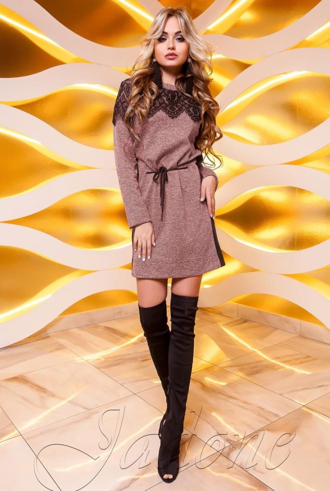 Платье-туника Эрика розовый