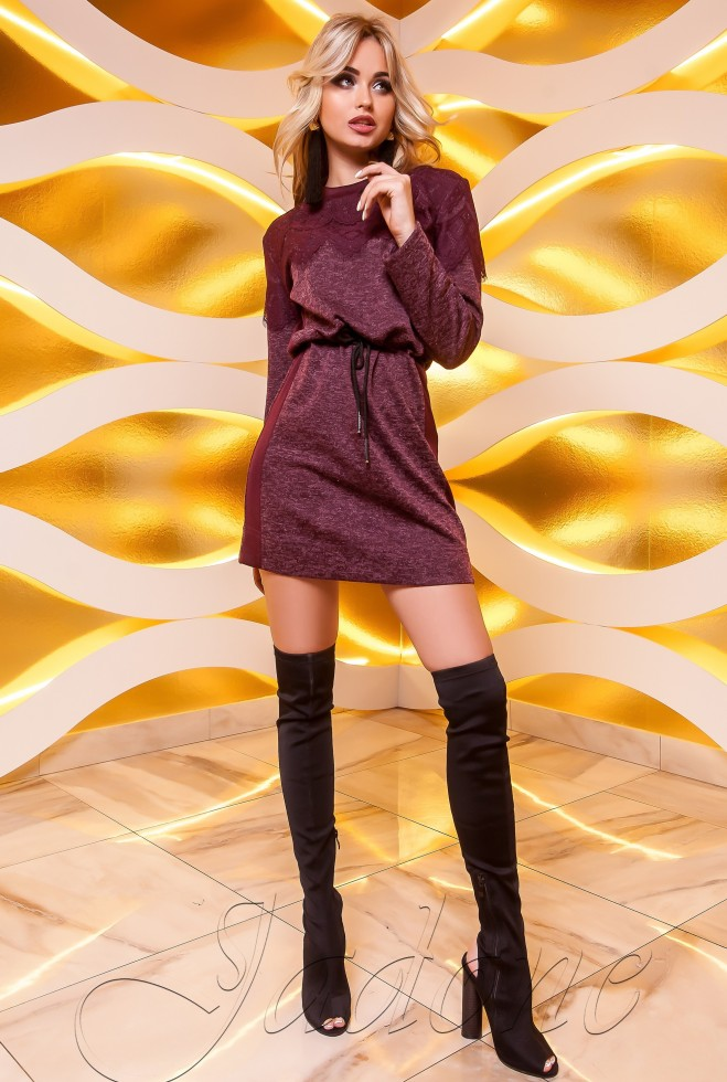 Платье-туника Эрика бордовый