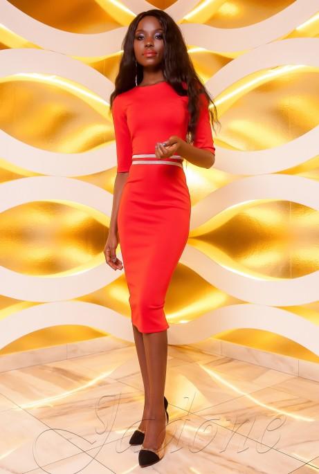 Платье Богемия красный