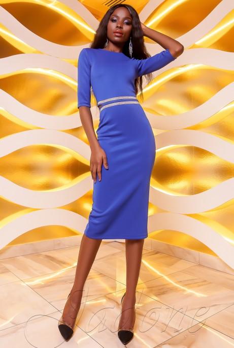 Платье Богемия электрик