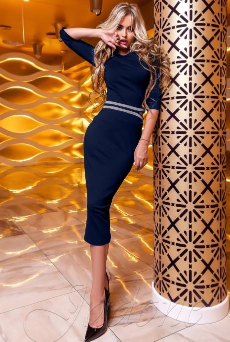 Платье Богемия тёмно-синий