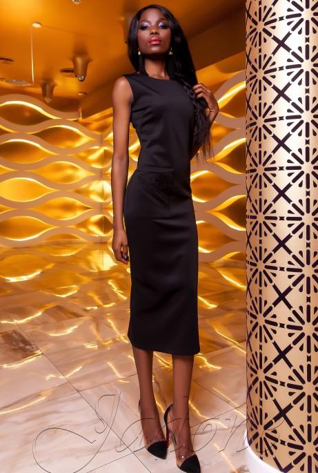 Платье Розетти черный