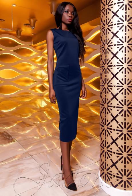 Платье Розетти тёмно-синий
