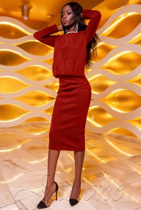 Костюм Карис юбка красный