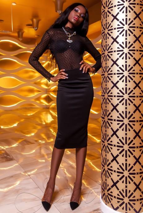 Блуза Халиси черный