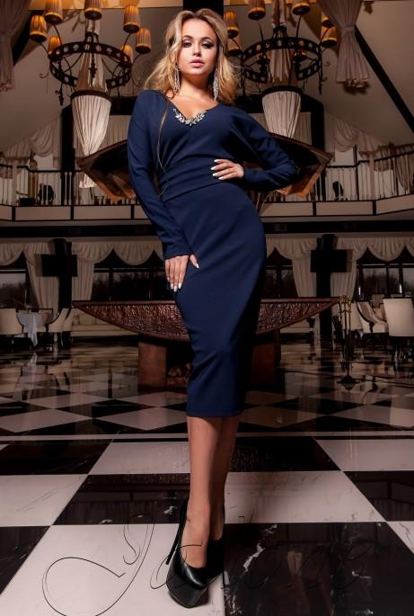 Платье Хансити тёмно-синий