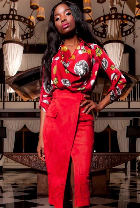 Блуза Сальвини красный