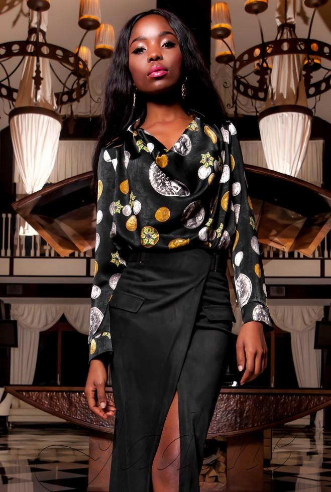 Блуза Сальвини черный