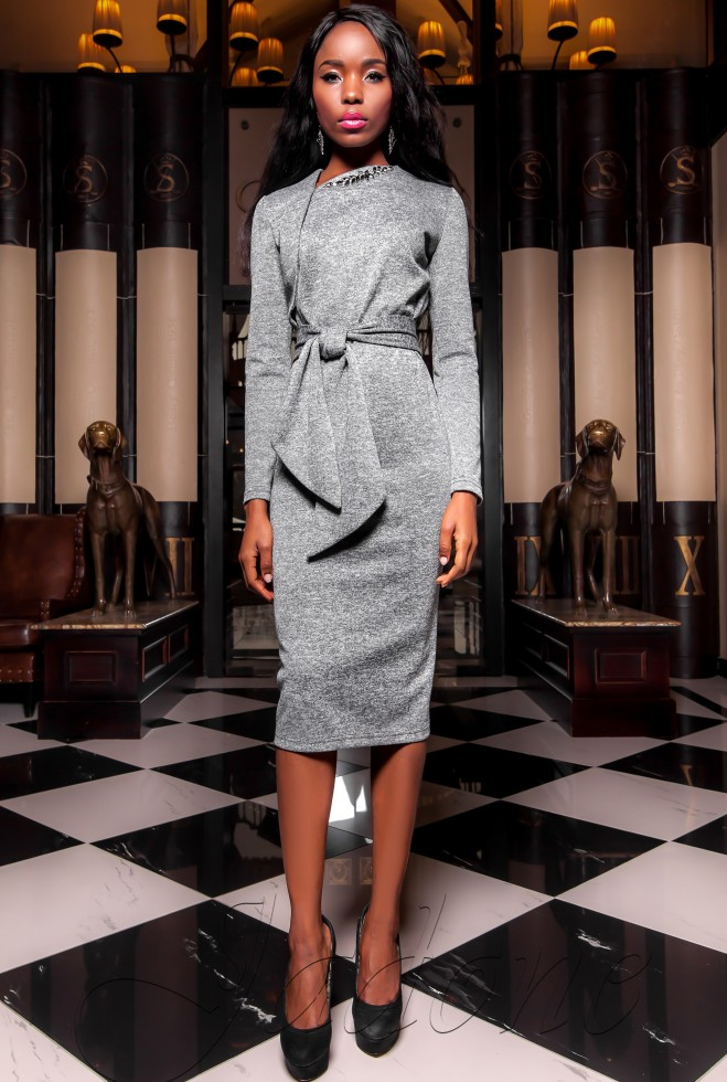 Платье  Шарлиз серый