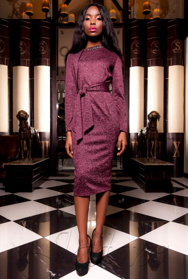 Платье  Шарлиз бордовый