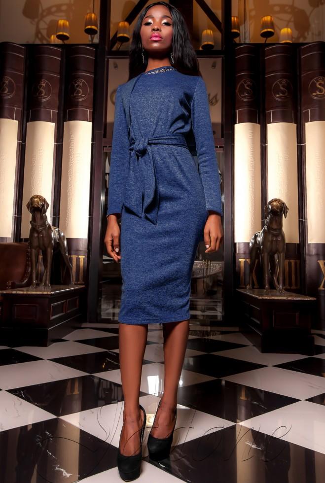 Платье  Шарлиз тёмно-синий