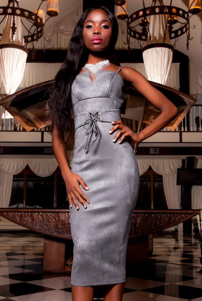 Платье Бюстье серый Жадон